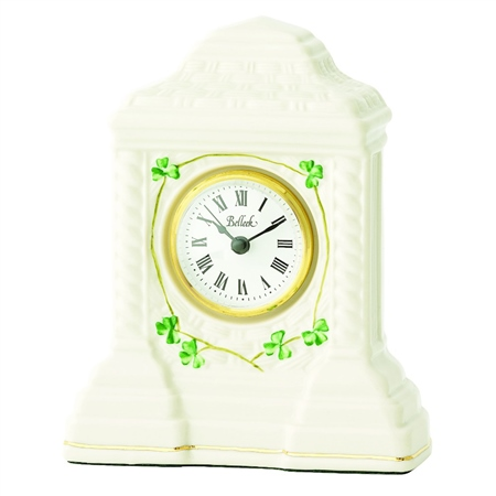 Belleek Classic Cashel Clock  - Click to view a larger image