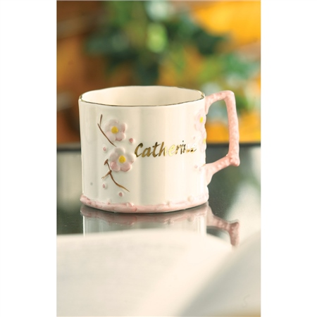 Belleek Classic Baby Girl Name Mug  - Click to view a larger image