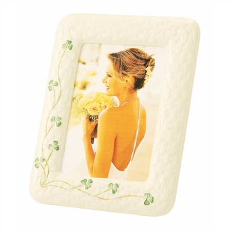Belleek Classic Shamrock Photo Frame  - Click to view a larger image