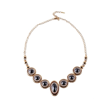 Designer Jewellery Onyx Diamond Necklace  - Click to view a larger image