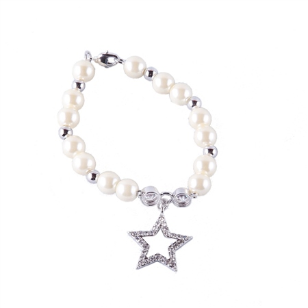 Designer Jewellery Ivory Bead Star Bracelet  - Click to view a larger image