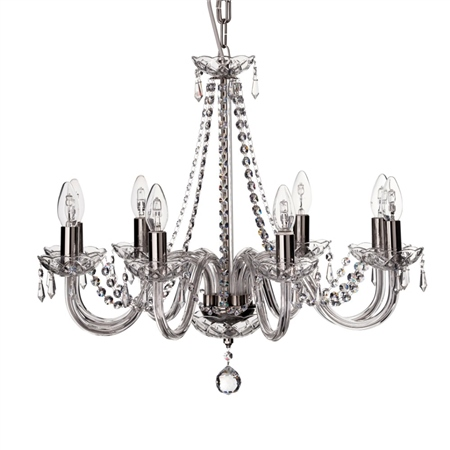 Galway Crystal Cashel 8 Arm Chandelier  - Click to view a larger image