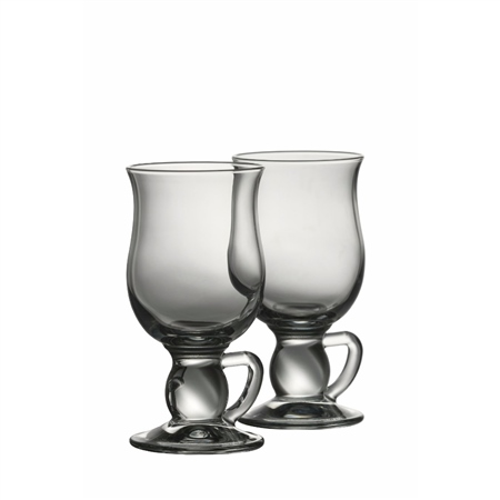Galway Crystal Latte Mugs Pair  - Click to view a larger image