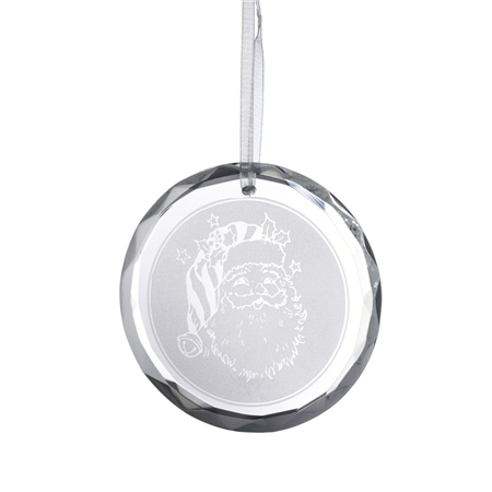 Galway Living Santa - Round Hanging Ornament  - Click to view a larger image