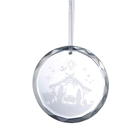 Galway Living Nativity Scene Hanging Ornament  - Click to view a larger image
