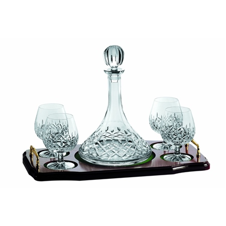 Galway Crystal Longford MiniBrandy Decanter Set  - Click to view a larger image