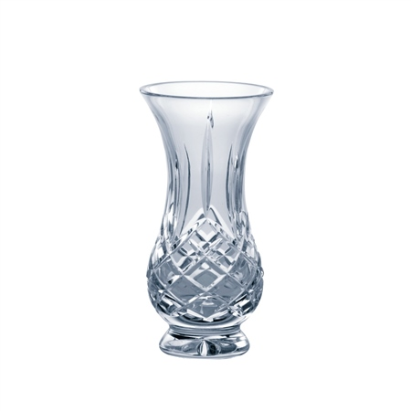 "Galway Crystal LONGFORD 5"" FOOTED BULB VASE  - Click to view a larger image"