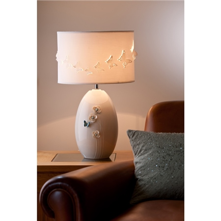 Belleek Living Azure Lamp  - Colour Collection Azure Lamp - Click to view a larger image