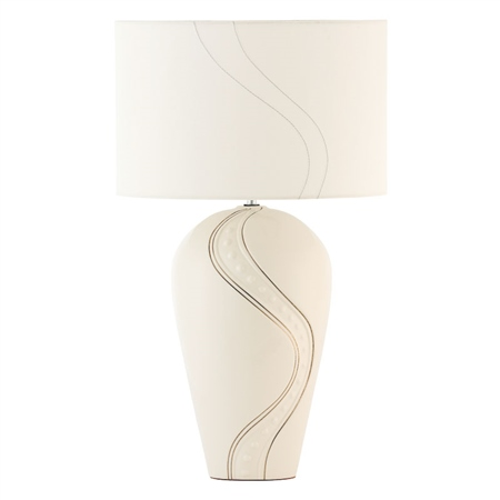 Belleek Living Silver Ripple Lamp   - Click to view a larger image