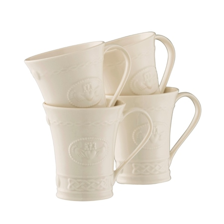 Belleek Classic Claddagh 10oz Mug Set  - Click to view a larger image