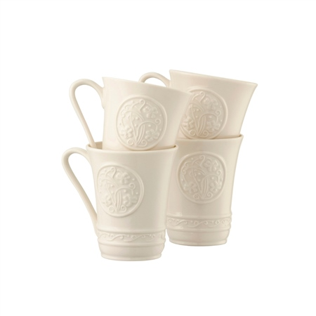 Belleek Classic IRISH CRAFT 10oz MUG SET  - Click to view a larger image