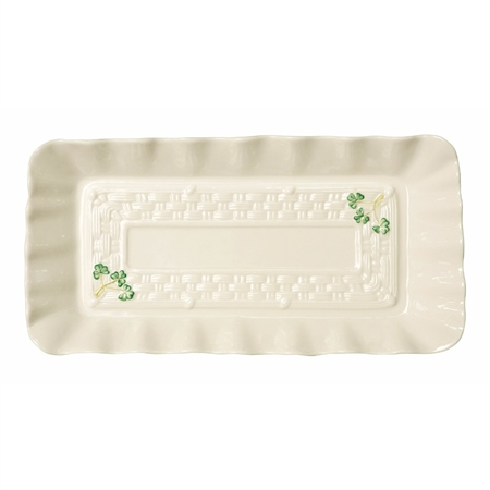 Belleek Classic SHAMROCK TRAY  - Click to view a larger image