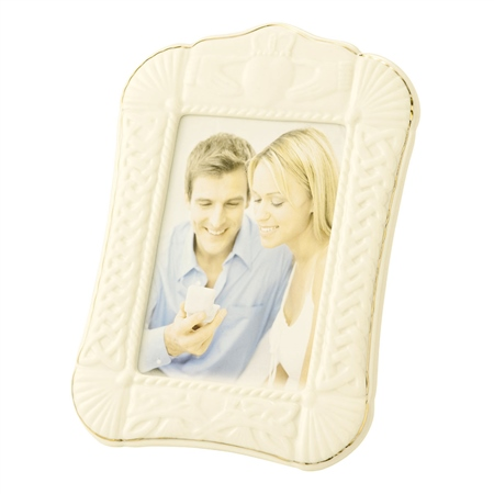Belleek Classic Claddagh 5x7 Photo Frame  - Click to view a larger image