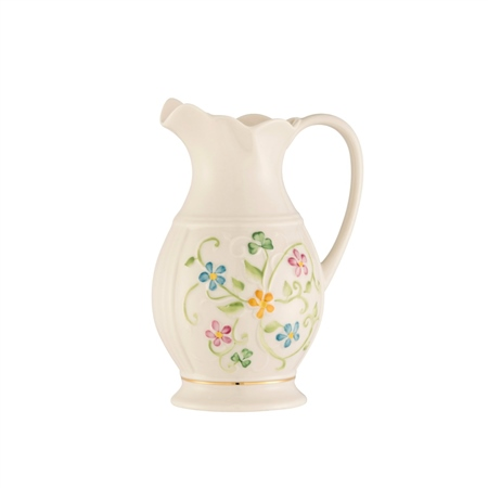Belleek Classic Daisy Blossom Pitcher  - Click to view a larger image