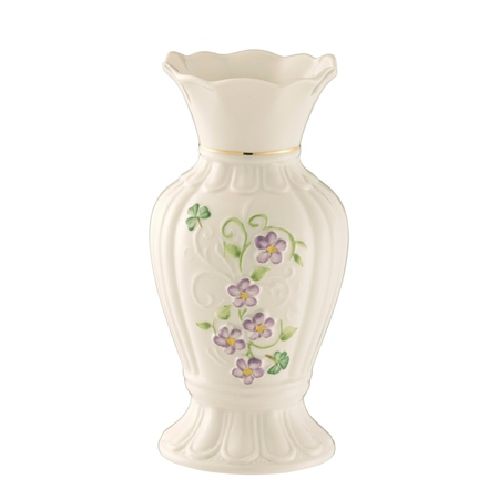 "Belleek Classic Irish Flax 7"" Vase  - Click to view a larger image"
