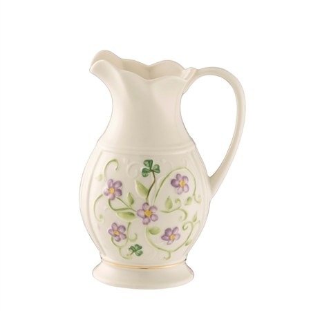 Belleek Classic Irish Flax Pitcher  - Click to view a larger image