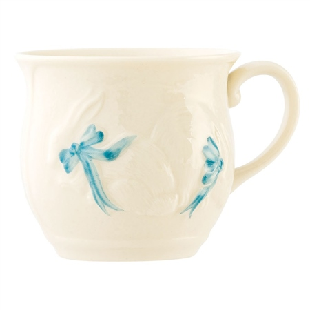 Belleek Classic Bunny Baby Cup - Boy  - Click to view a larger image