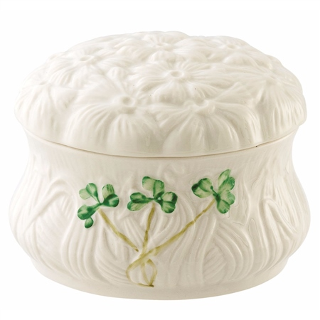 Belleek Classic Daisy Trinket Box  - Click to view a larger image