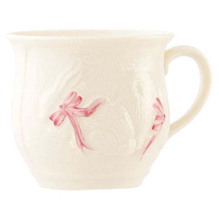 Belleek Classic Bunny Baby Cup - Girl  - Click to view a larger image