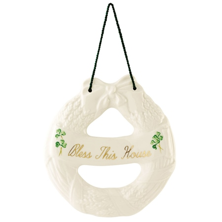 Belleek Classic HOUSE BLESSING WREATH  - Click to view a larger image
