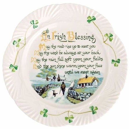 Belleek Classic Irish Blessing Plate - Click to view a larger image  sc 1 st  Belleek.com & Belleek Classic Irish Blessing Plate | Belleek.com