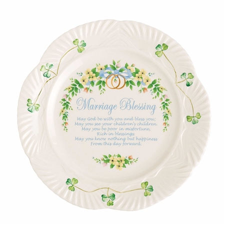 Belleek Classic Marriage Blessing Plate  - Click to view a larger image