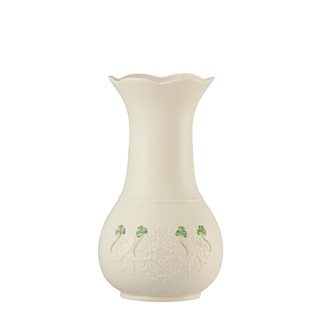 """Belleek Classic Shamrock Lace 10"""" Vase  - Click to view a larger image"""