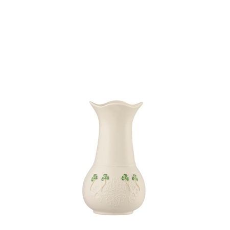 "Belleek Classic Shamrock Lace 7"" Vase  - Click to view a larger image"