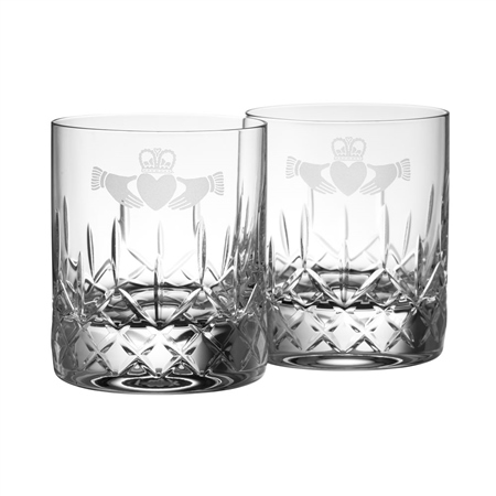 Galway Crystal CLADDAGH D.O.F PAIR  - Click to view a larger image