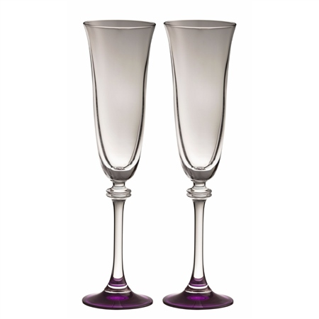 Galway Living Liberty Flute Amethyst Pair  - Click to view a larger image