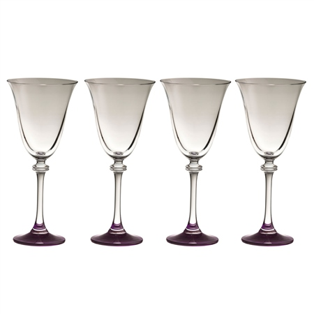 Galway Living Liberty Goblet Amethyst Set  - Click to view a larger image