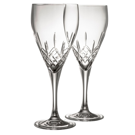 Galway Crystal Longford Goblet Pair  - Click to view a larger image