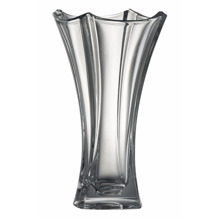 "Galway Crystal DUNE 14"" WAISTED VASE  - Click to view a larger image"