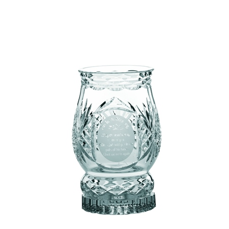 Galway Crystal Irish Blessing Hurricane Lamp  - Click to view a larger image