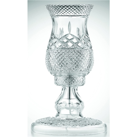 Galway Crystal Newgrange Lamp and Shade  - Click to view a larger image