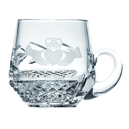Galway Crystal CLADDAGH CHRISTENING MUG  - Click to view a larger image