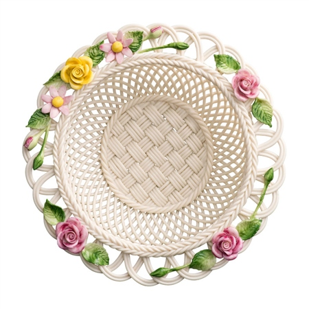 Belleek Classic Rose Gerbera Basket  - Click to view a larger image