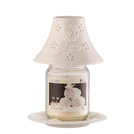 Belleek Living Aroma Candle Shade and Tray  - Click to view a larger image