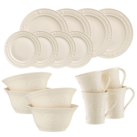 Belleek Classic Claddagh 16 Piece Dining Set  - Click to view a larger image