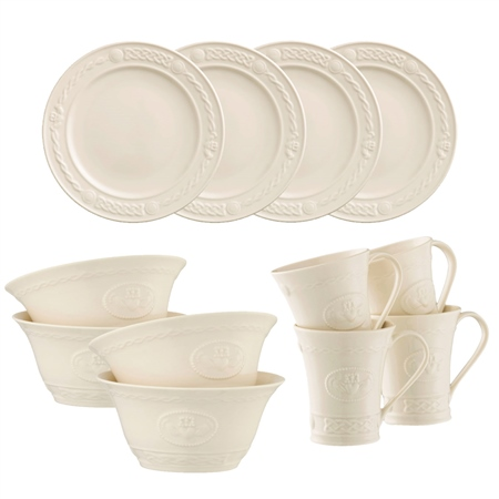Belleek Classic Claddagh 12 Piece Set *Belleek.com Exclusive* Belleek Classic - Claddagh 12 Piece Set - Click to view a larger image
