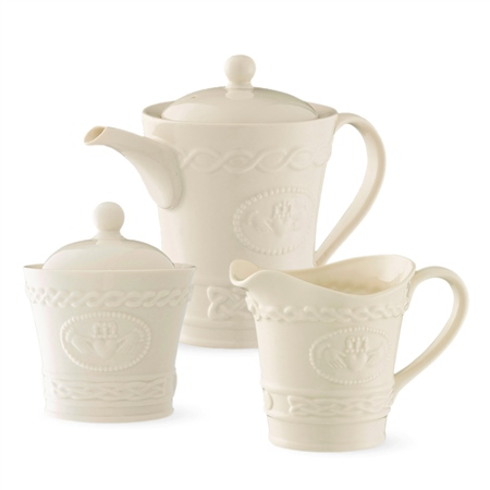 Belleek Classic Claddagh Tea Set  - Click to view a larger image