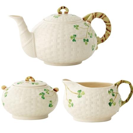 Belleek Classic Shamrock Irish Tea *Exclusive*  - Click to view a larger image