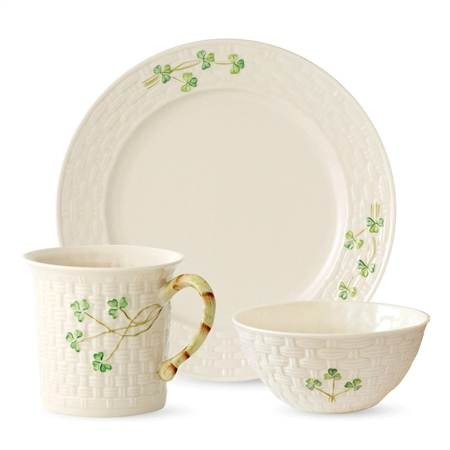 Belleek Classic Shamrock 12-Piece Set *Belleek.com Exclusive* Belleek Classic - Shamrock 12 Piece Set - Click to view a larger image