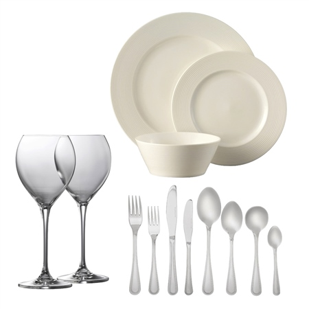 Belleek Living *Exclusive* Ripple Dinner Party Bundle  - Click to view a larger image