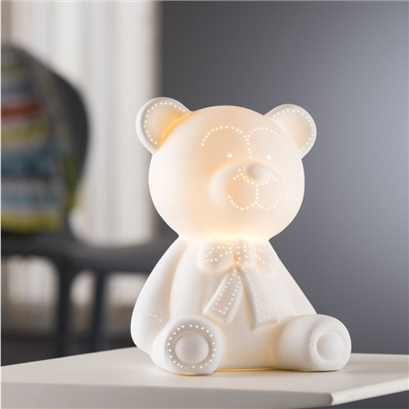 Belleek Living Teddy Bear Luminaire  - Click to view a larger image