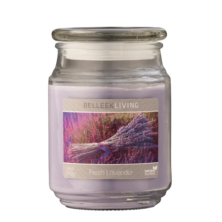 Belleek Living Fresh Lavender Candle  - Click to view a larger image