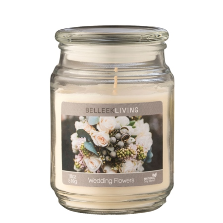 Belleek Living Wedding Flowers Candle  - Click to view a larger image