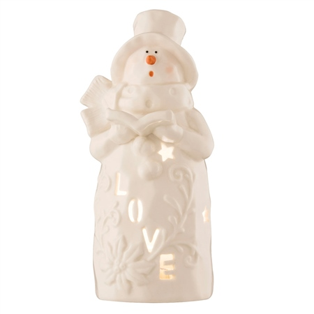 Belleek Living Love Snowman - Votive  - Click to view a larger image