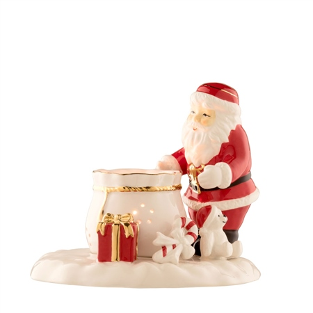 Belleek Living Santa with Sack of Toys  - Click to view a larger image