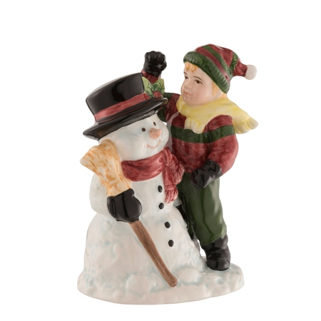 Aynsley Snowman and Boy  - Click to view a larger image